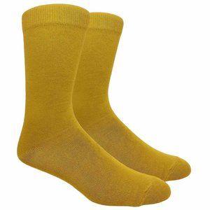 Men's Mustard Color Solid Socks
